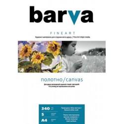 БУМАГА-ХОЛСТ Д/СТРУЙНЫХ БАРВА FINE ART (IC-XA10-T01, МАТОВАЯ), 340 Г/М, A4, 5Л