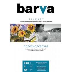 БУМАГА-ХОЛСТ Д/СТРУЙНЫХ БАРВА FINE ART (IC-XA12-T01, МАТОВАЯ), 350 Г/М, A4, 5Л