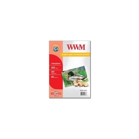 БУМАГА Д/СТРУЙНЫХ WWM (G225.20), 225 Г/М, A4, 20 Л