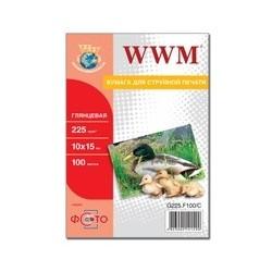 """БУМАГА Д/СТРУЙНЫХ WWM (G225.F100), 225 Г/М, 4""""X6"""", 100 Л"""