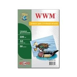 БУМАГА Д/СТРУЙНЫХ WWM (GD220.50), 220 Г/М, A4, 50 Л