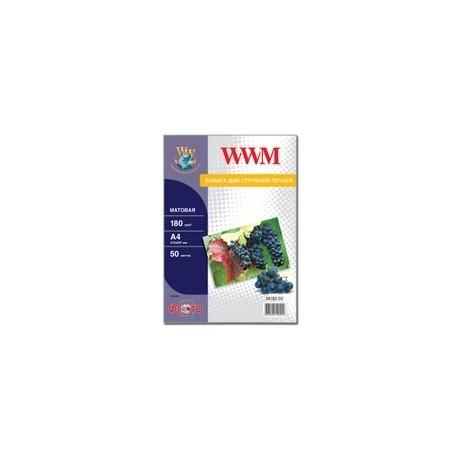 БУМАГА Д/СТРУЙНЫХ WWM (M180.50), 180 Г/М, A4, 50 Л