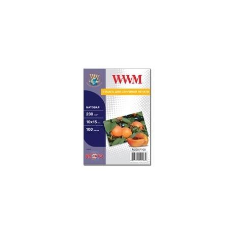 """БУМАГА Д/СТРУЙНЫХ WWM (M230.F100), 230 Г/М, 4""""X6"""", 100 Л"""