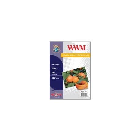 БУМАГА Д/СТРУЙНЫХ WWM (M230.100), 230 Г/М, A4, 100 Л