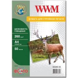 БУМАГА Д/СТРУЙНЫХ WWM (SG260.50), 260 Г/М, A4, 50 Л