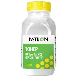 ТОНЕР HP HCS CP1215/M775, ЖЕЛТЫЙ, ФЛАКОН, 50 Г, PATRON