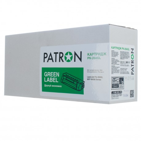 КАРТРИДЖ HP LJ M402, (CF226A/26A, GREEN LABEL), PATRON