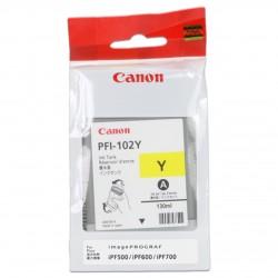 КАРТРИДЖ CANON PFI-102Y, (0898B001), ЖЕЛТ.