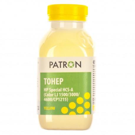 ТОНЕР HP HCS CLJ 1500/CP1215, ЖЕЛТЫЙ, ФЛАКОН, 50 Г, PATRON