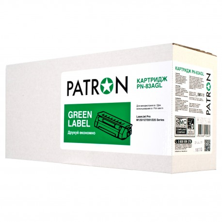 КАРТРИДЖ HP LJ M125, (CF283A/83A, GREEN LABEL), PATRON