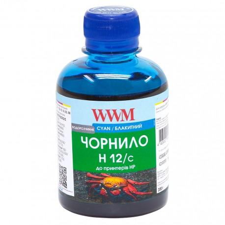 ЧЕРНИЛА HP №10/11/12 СИНИЙ, (200 ГР, H12/C), WWM