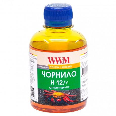 ЧЕРНИЛА HP №10/11/12 ЖЕЛТЫЙ, (200 ГР, H12/Y), WWM