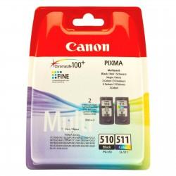 КАРТРИДЖ CANON PG-510/CL-511, (2970B010, 2970B007/2972B007, MULTI PACK), ЧЕРН.+ЦВ.