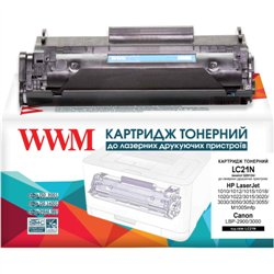 КАРТРИДЖ HP LJ 1010/CANON LBP-2900, (Q2612A/12A, 703), WWM